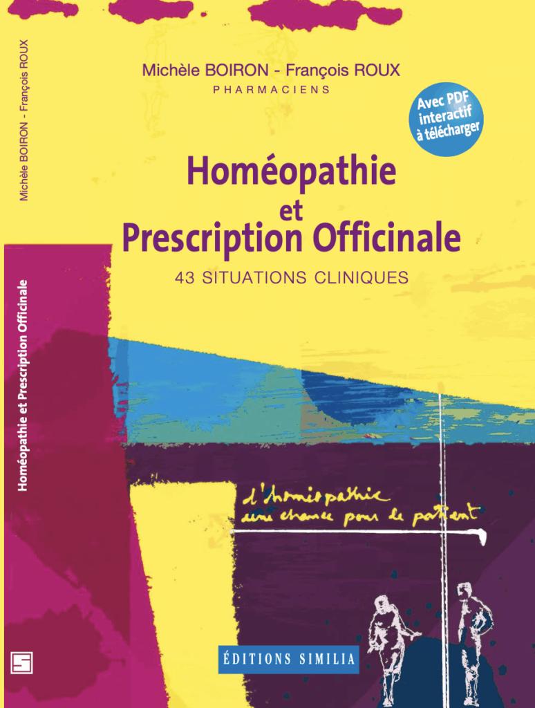 Livre homéopathie et prescription officinale aux Editions Similia
