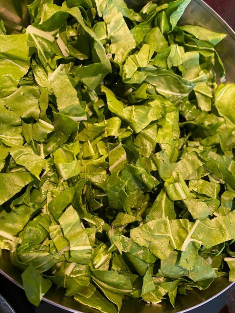 Quiche aux feuilles de blettes
