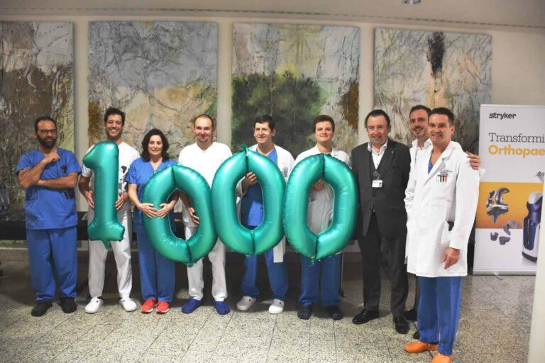 La 1000e opération avec le robot Mako