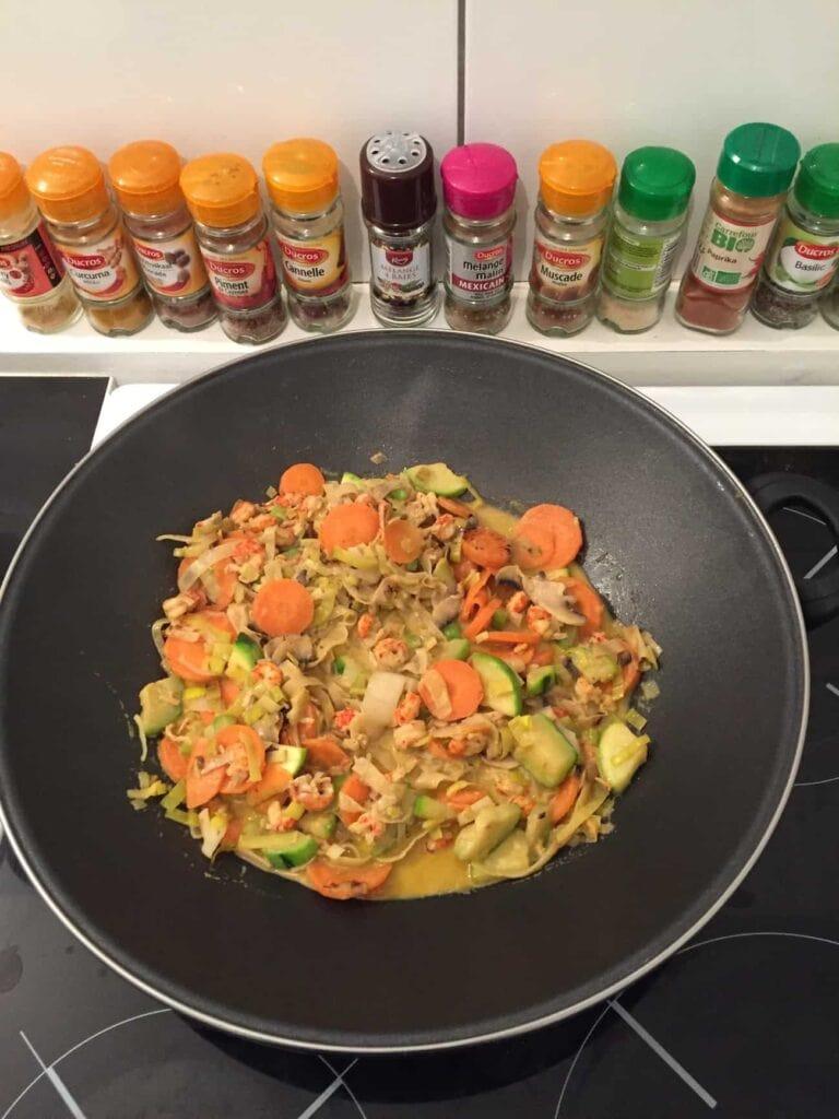 Wok curry coco