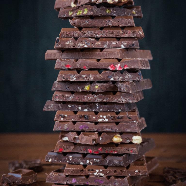 carrés chocolat